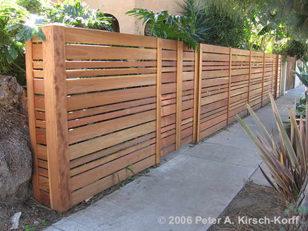 Fence Ideas Horizontal And Vertical Slats Neighborhood Nursery