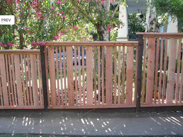 fence vertical slats redwood 3 Neighborhood Nursery