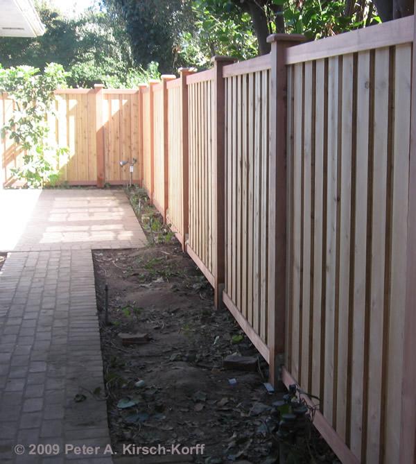 Fence Vertical Slats Redwood Neighborhood Nursery