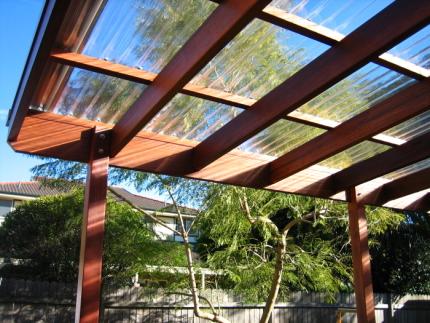 Plexiglass roof panels