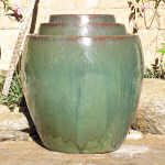 Planter Chinese Glazed Forest Green 3-813-FG-tn