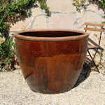Planter Extra Large Glazed Brown 3-186-D-tn