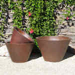 Planter Rustic Brown V-Shape 5-6040-tn