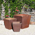 Planter Square Rustic Brown 5-6022-tn