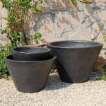 Planter Vietnamese V Shape Gun Metal 5-6040-GM-tn