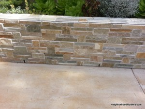 Stain Unremoved Against the Planter Wall